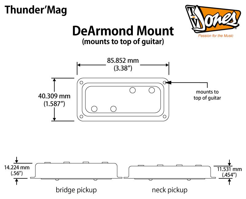 thunder mag bass pickups bass guitar pickup tv jones 95 Dodge Truck Wiring Diagram Basic Electric Guitar Wiring Diagrams
