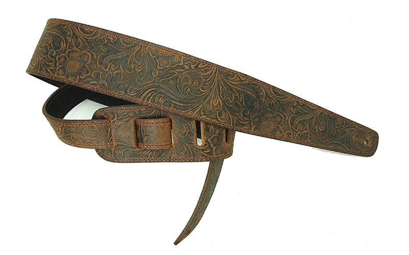写真:Tooled Leather LS-2804T Brown